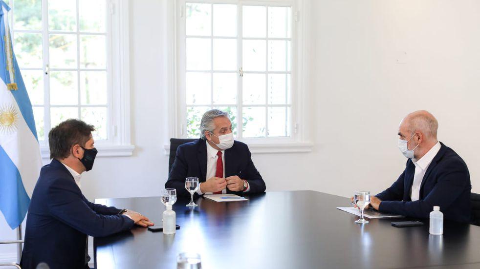 """Fernández, Kicillof y Larreta evaluaron con """"preocupación"""" el aumento de casos en el AMBA"""