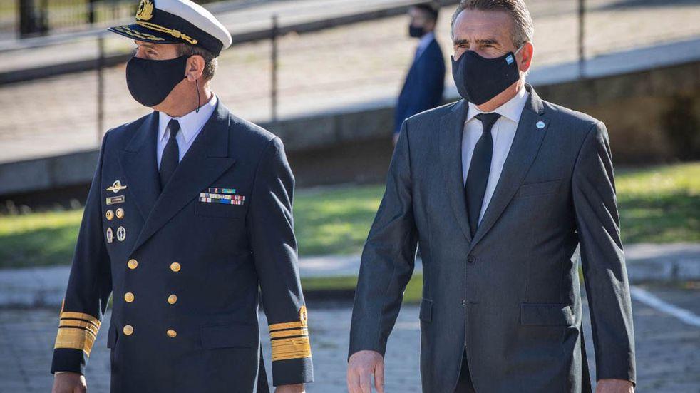 Agustín Rossi se despidió de su cargo de ministro de Defensa en un acto oficial