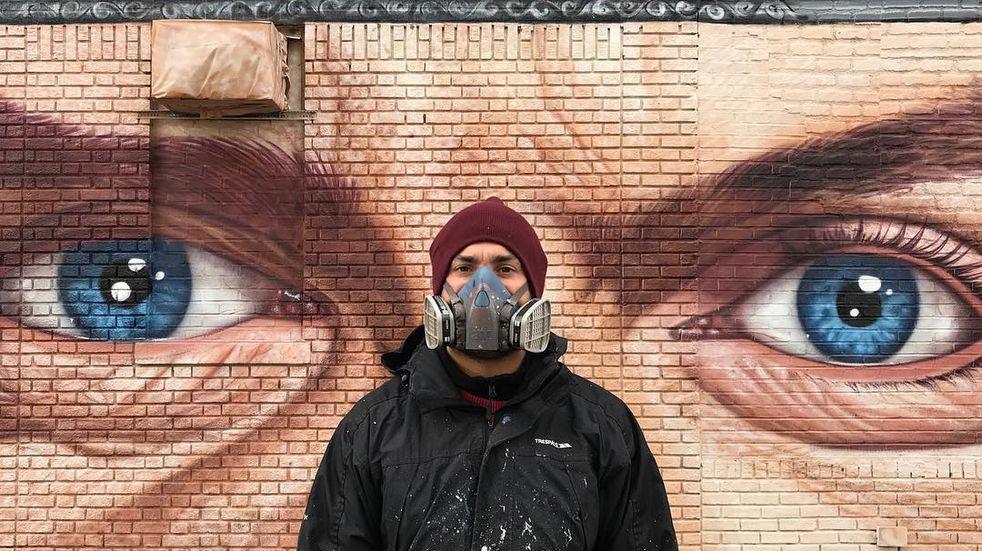 El artista tardó 11 días en completar el proyecto en Samara, una de las ciudades más grandes del país europeo.