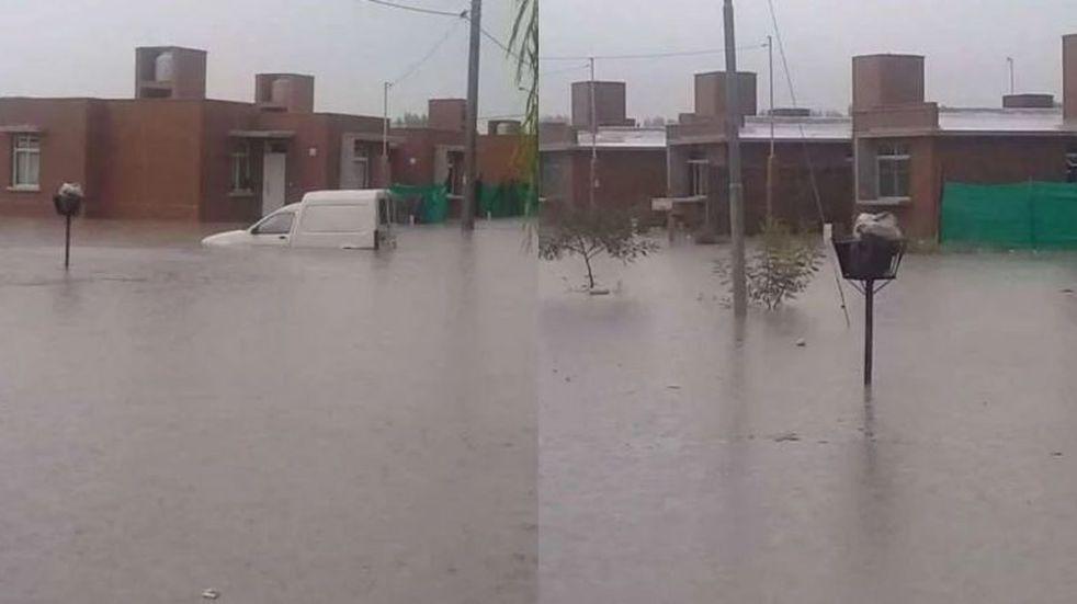 Tras las lluvias, un barrio recién inaugurado de Luján se inundó