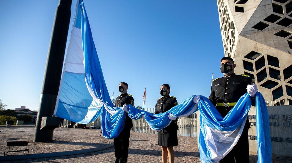 Día de la Bandera en Córdoba: la conmemoración en el Centro Cívico