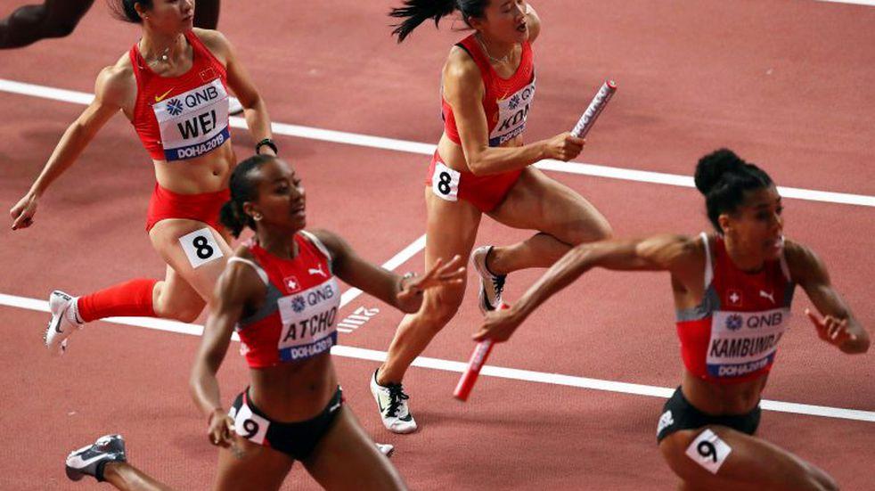 Una insólita carrera en el Mundial de atletismo: corrieron hacia atrás por error