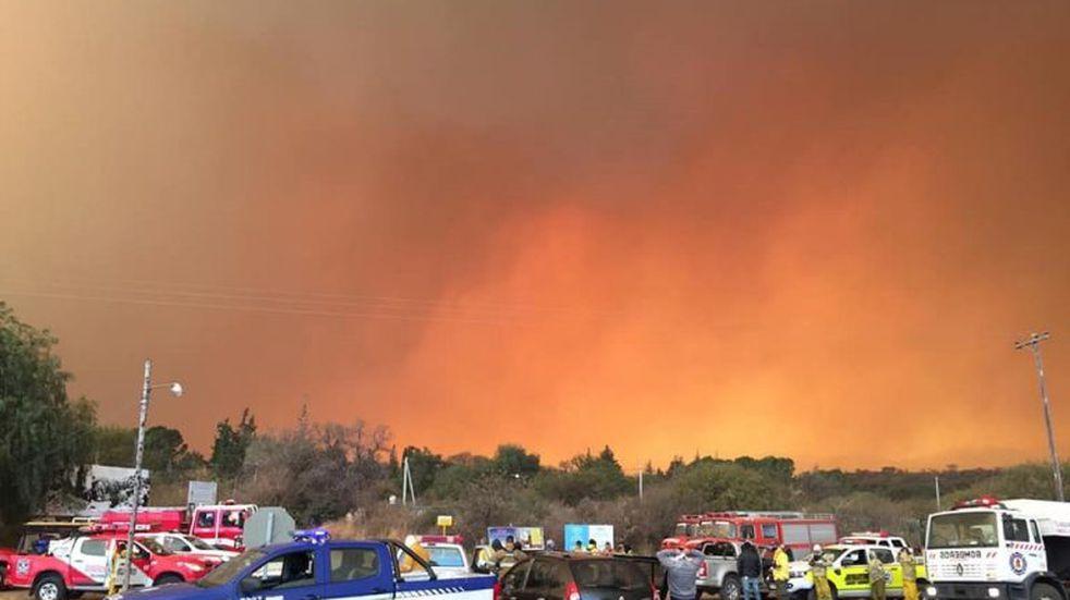 Alojaron en Capilla del Monte a los evacuados de Charbonier y Las Escobas