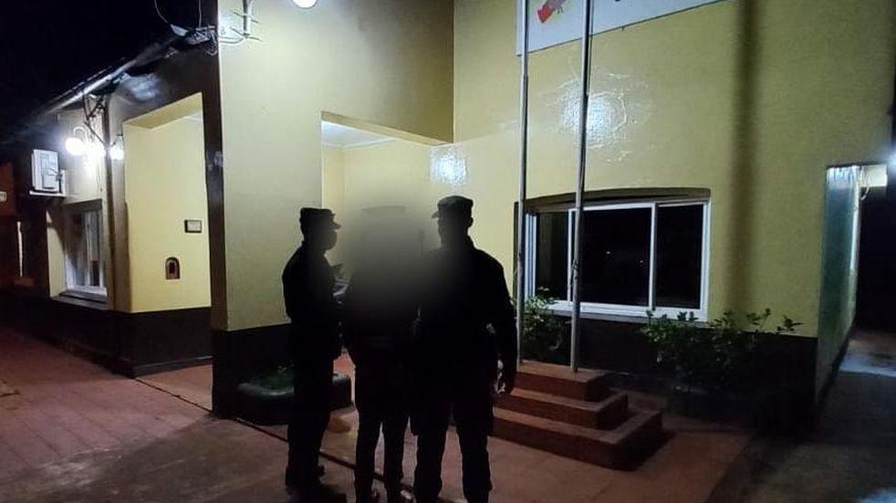 Terminó detenido por causar disturbios en Colonia Guaraní.