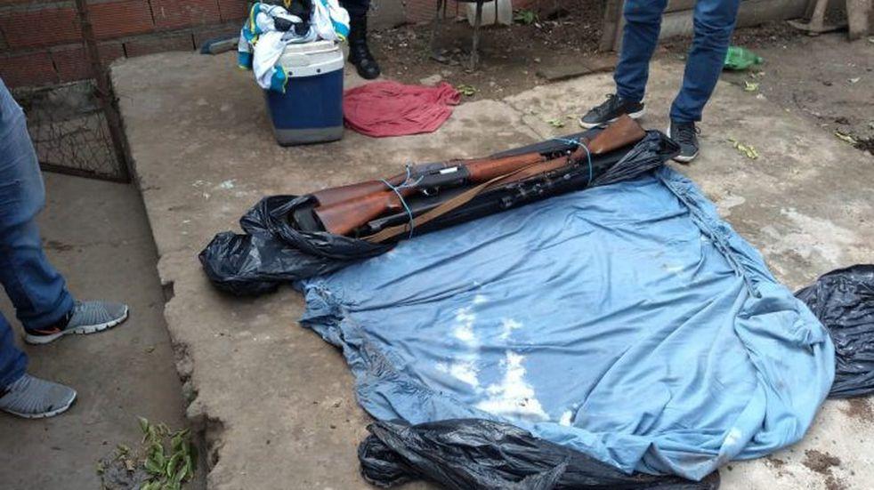 Victoria: secuestran armas de grueso calibre en una vivienda