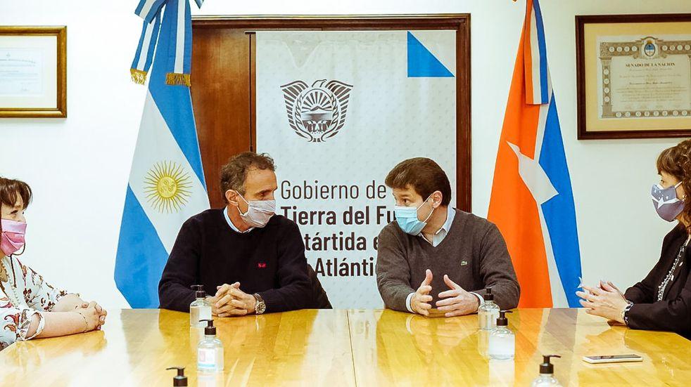 El gobernador Melella recibió al ministro de nación Gabriel Katopodis