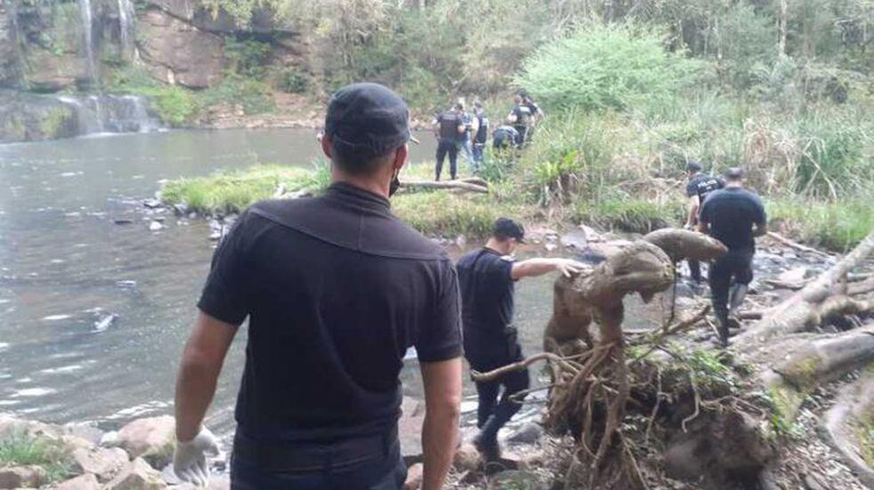 Un individuo falleció tras zambullirse al Salto de Arroyo Alegre en Aristóbulo del Valle
