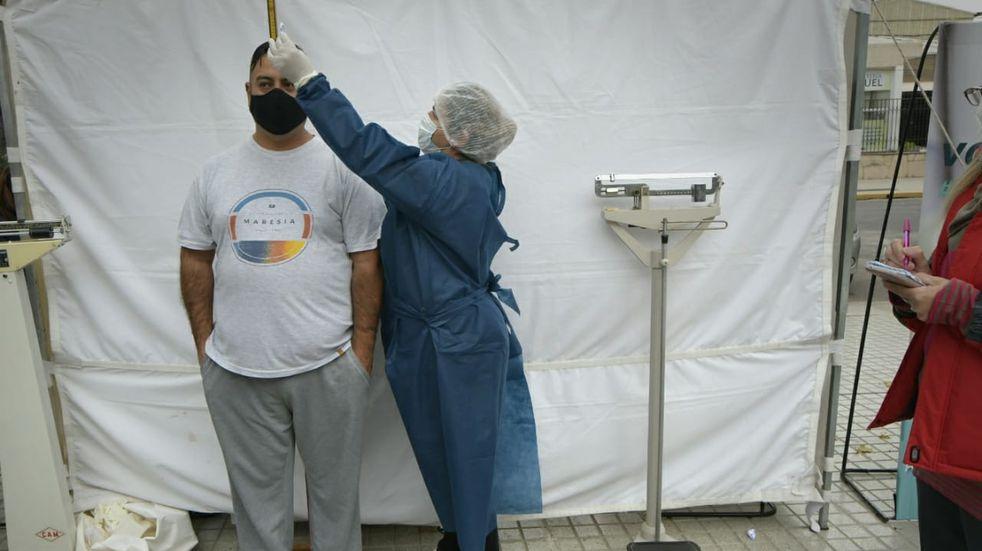 Guaymallén habilitó dos puestos para evaluar el índice de masa corporal