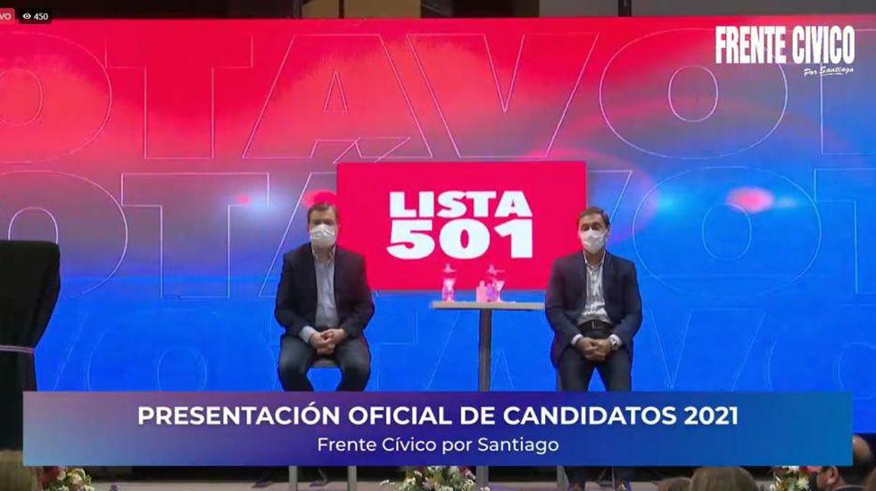 Presentaron a los candidatos del Frente Cívico por Santiago.
