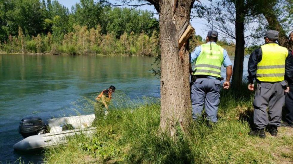 Encontraron muerto a un hombre en el río Limay