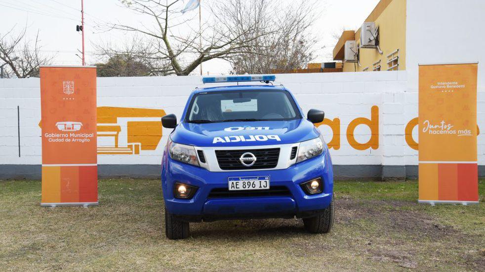 La Policía de Arroyito recibió un nuevo móvil para sus efectivos