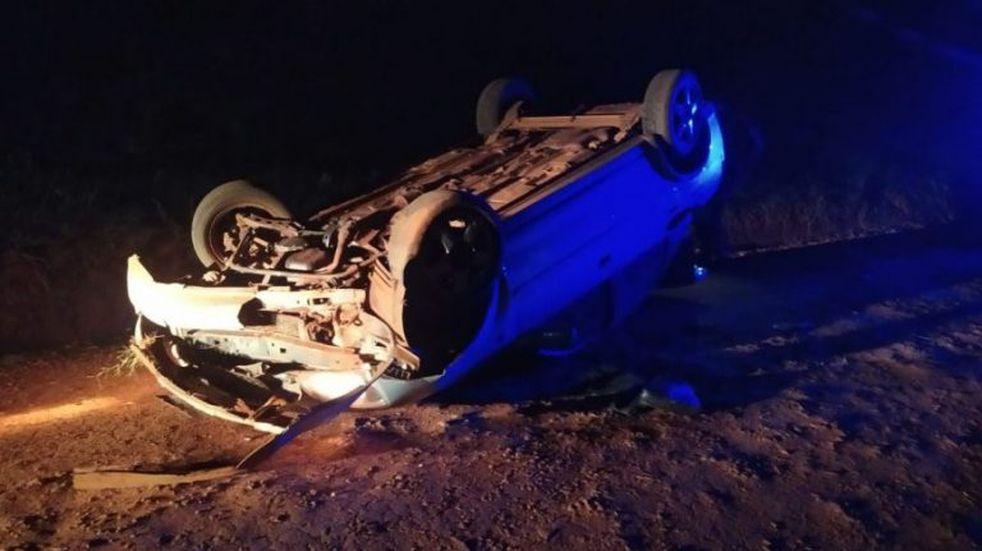 Una familia completa resultó con lesiones tras el despiste del auto en que viajaban