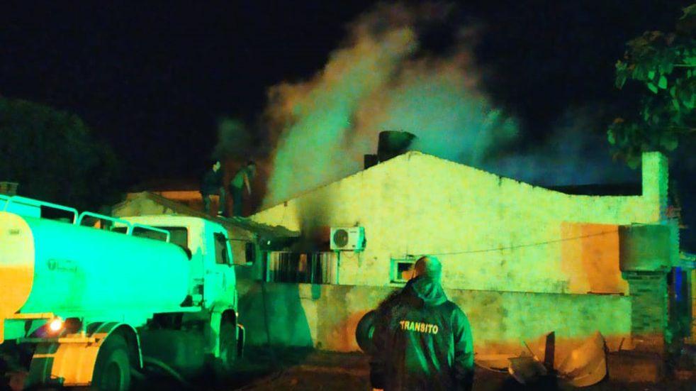 Apóstoles: incendio en una vivienda