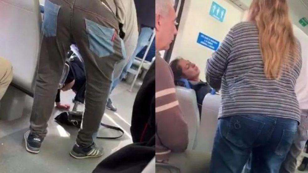 """Un hombre causó pánico y asombro al hacer un """"exorcismo"""" en el tren Sarmiento"""
