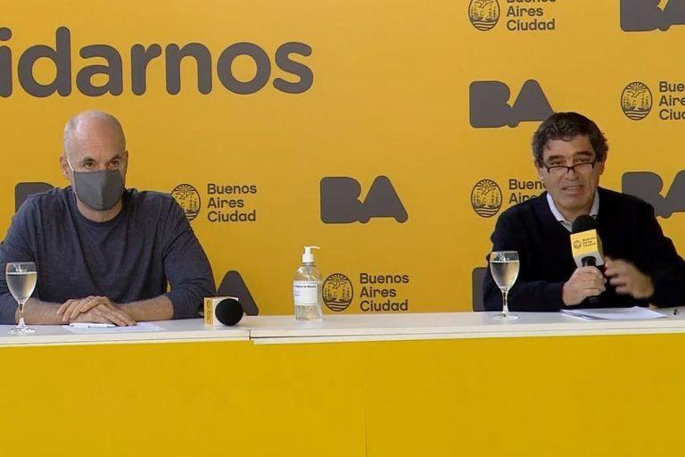 Horacio Rodríguez Larreta junto a Fernán Quirós.