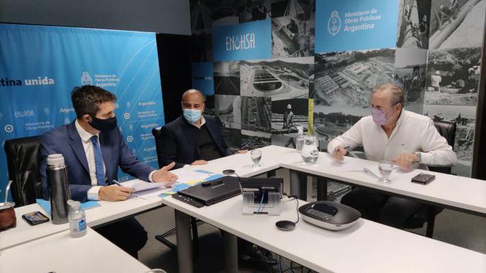 Acordaron la creación de una planta de tratamiento y redes cloacales en Simoca