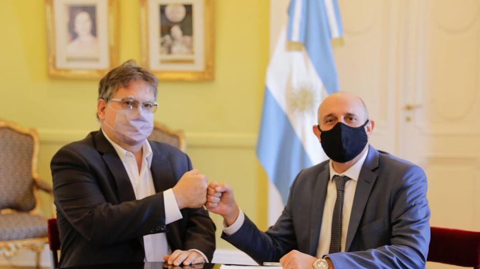 El intendente Francolini se reunión con el ministro Guerrera.