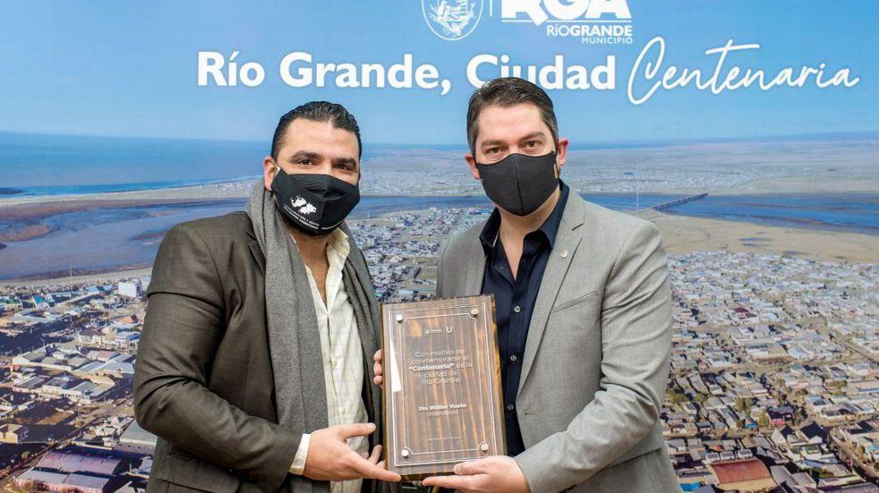 El intendente Vuoto participó de los festejos del Centenario de Río Grande