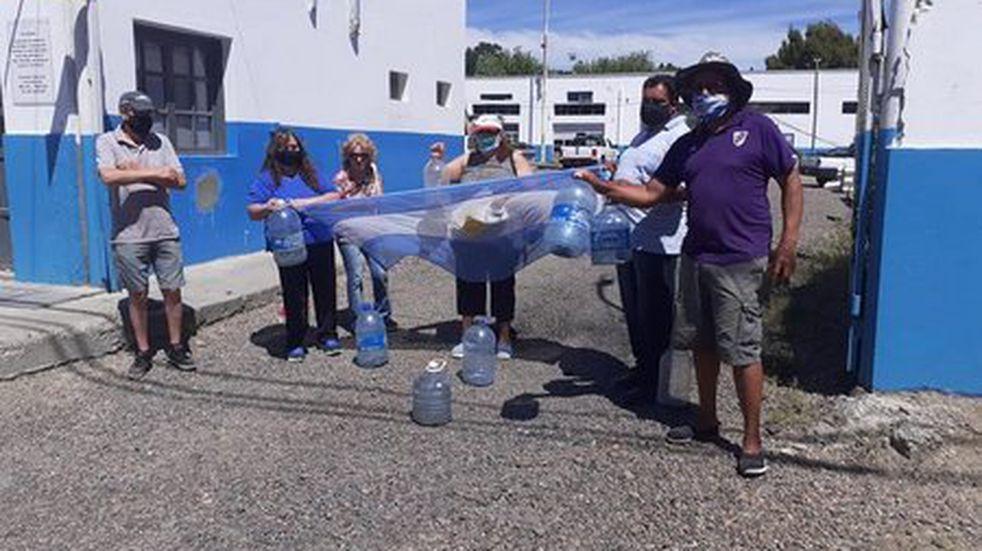 Protesta en Servicios Públicos por la falta de agua