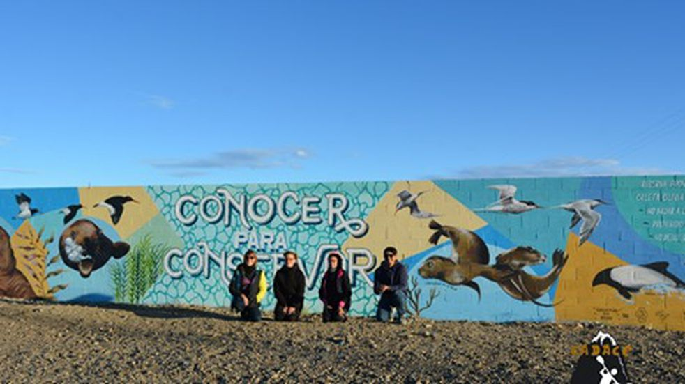 "Se inauguro mural  ""Conocer para conservar"""