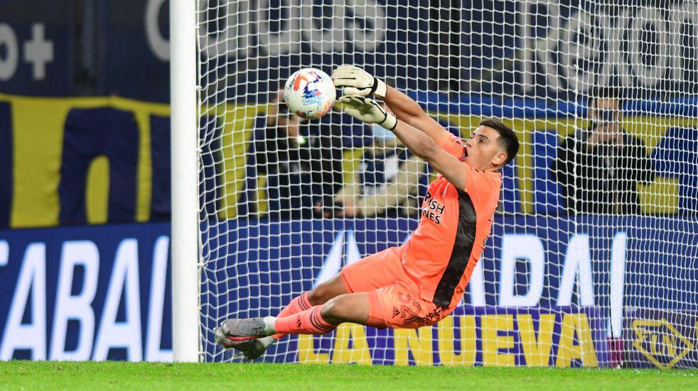 River: Alan Díaz tuvo un gran debut contra Boca y fue la figura del partido