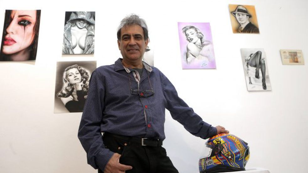 Arte en vivo e Guaymallén: Jorge Palma demostrará sus dotes de pinturas con aerografía