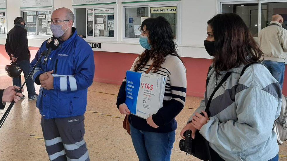 Iniciaron campaña contra la Trata de Personas en la terminal de Punta Alta