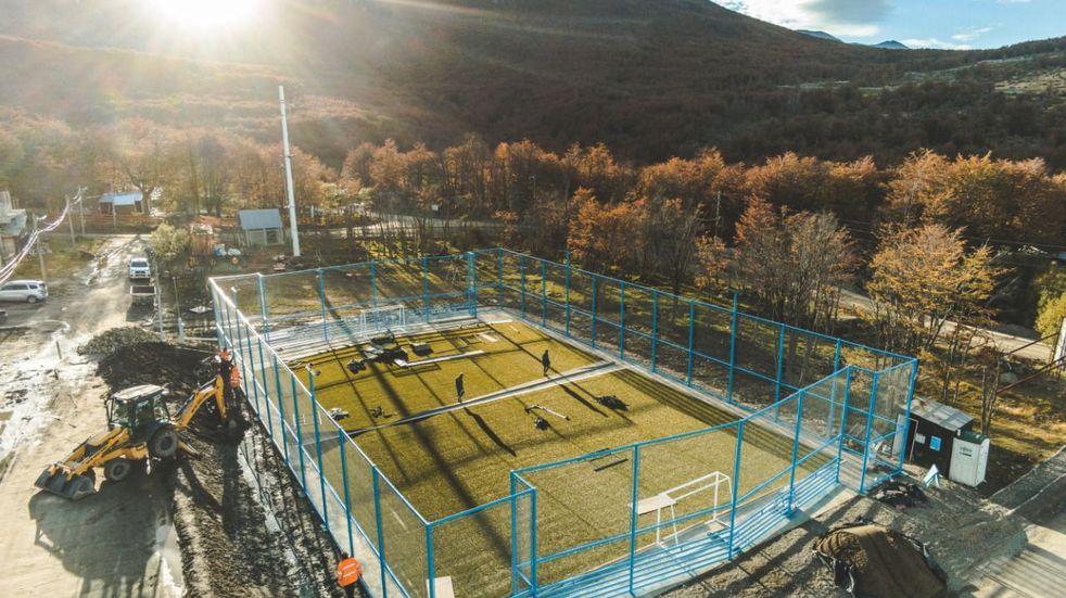 El Primer Playón deportivo en Andorra se encuentra en su etapa final