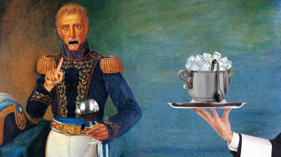 Polémica por una publicidad mendocina que muestra a los próceres argentinos tomando vino