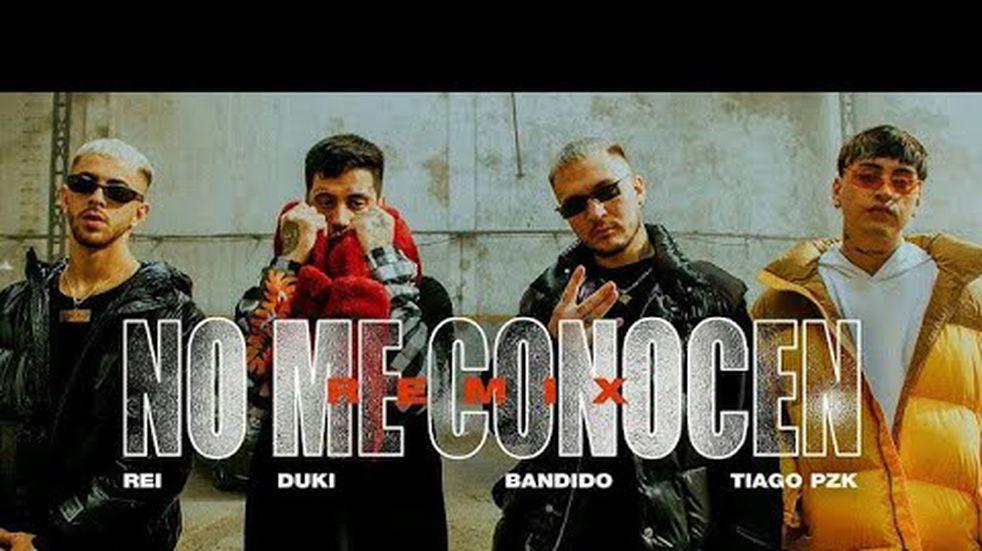 """Bandido, Duki, Rei y Tiago PZK lanzaron """"No me conocen"""" y ya está tercero en tendencias"""