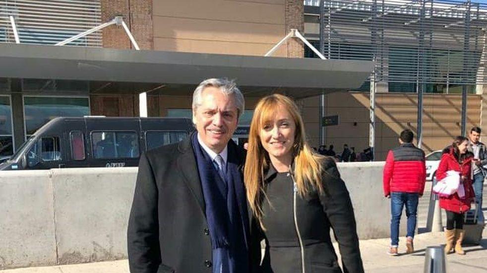 El Presidente se reunió con Anabel Fernández Sagasti por la multitudinaria marcha en Mendoza