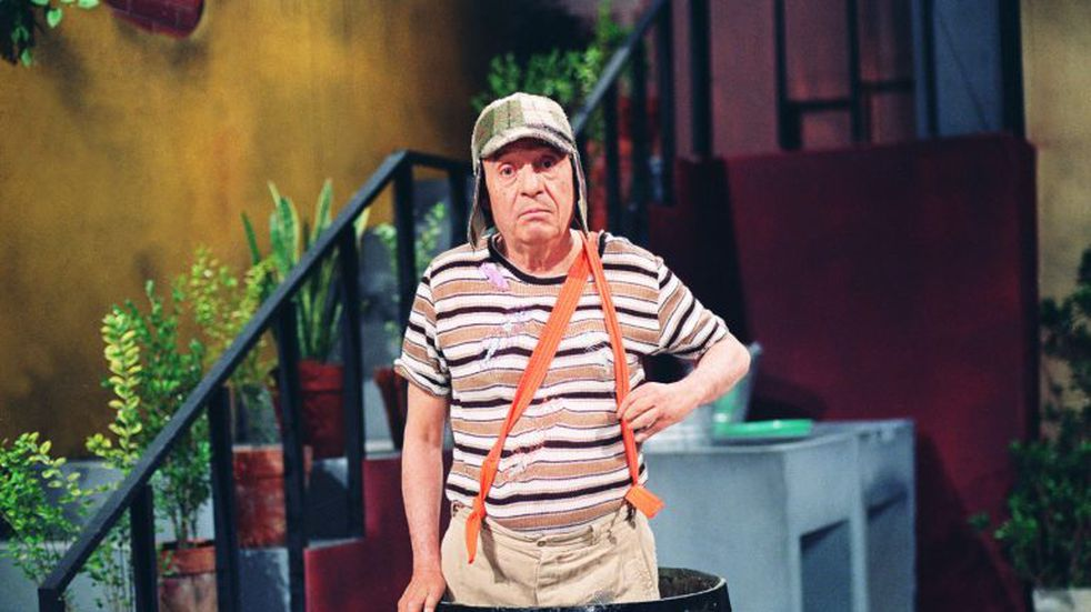 In this undated photo released by the television network Televisa on Friday, Nov. 28, 2014, Mexican comedian Roberto Gomez Bolanos poses for a photo as his famous character El Chavo del Ocho.  (AP Photo/Televisa)