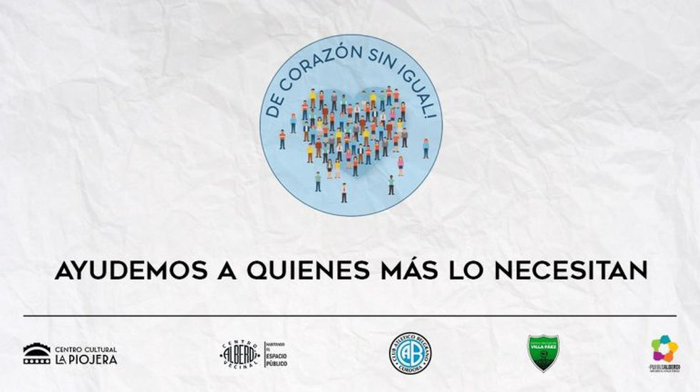 Belgrano y barrio Alberdi en una movida solidaria para enfrentar la cuarentena