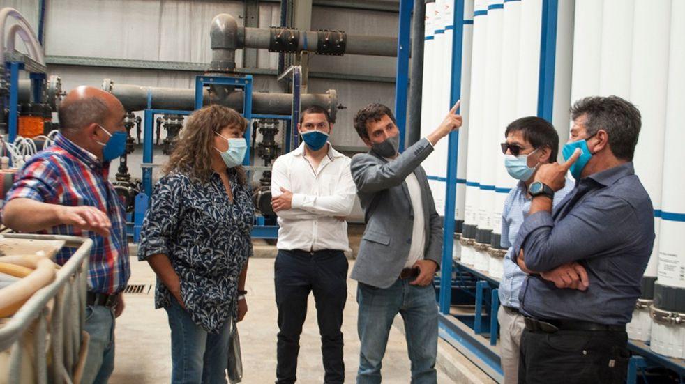 Funcionarios del ENOHSA visitaron la Planta de Ósmosis