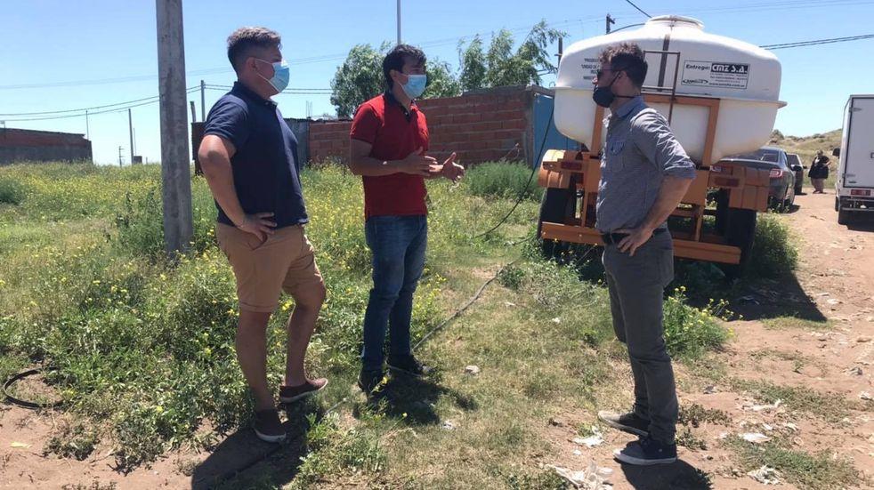 Concejales oficialistas acompañan el pedido de vecinos de Barrio Laura