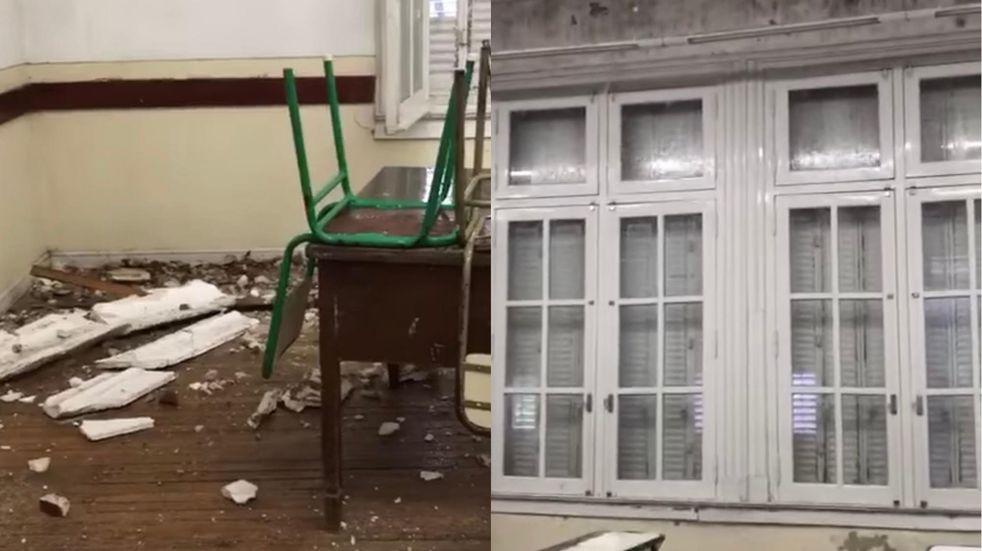 El diluvio en Paraná provocó destrozos e inundaciones en escuelas