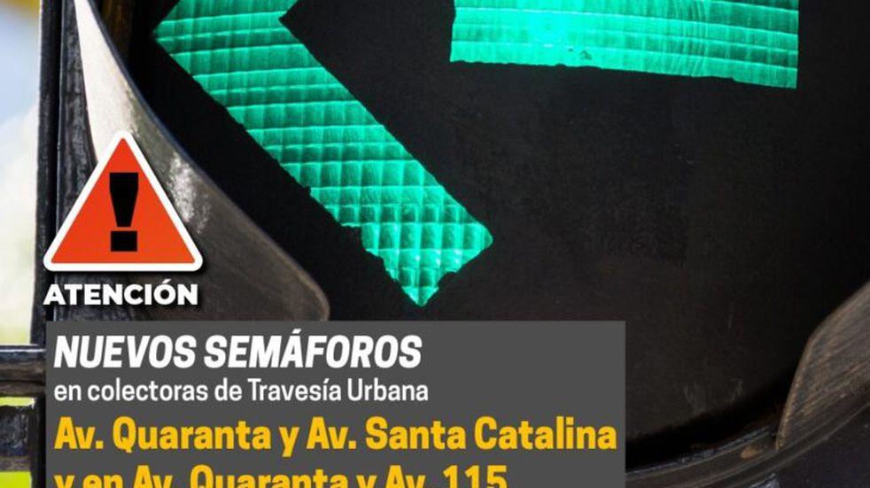 Por la Travesía Urbana en Posadas, habría nuevos semáforos en las colectoras de avenida Quaranta