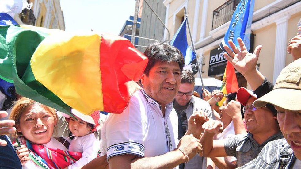 """Evo Morales defendió el resultado que dio Tribunal Electoral: """"Ganamos con más del 10%"""""""