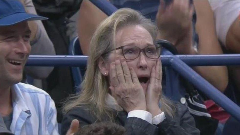 La increíble reacción de Meryl Streep por un puntazo de Juan Martín del Potro