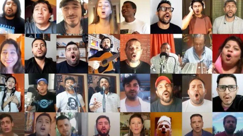 """Artistas salteños se unieron en la pandemia para cantar """"Esta noche canta Salta"""""""