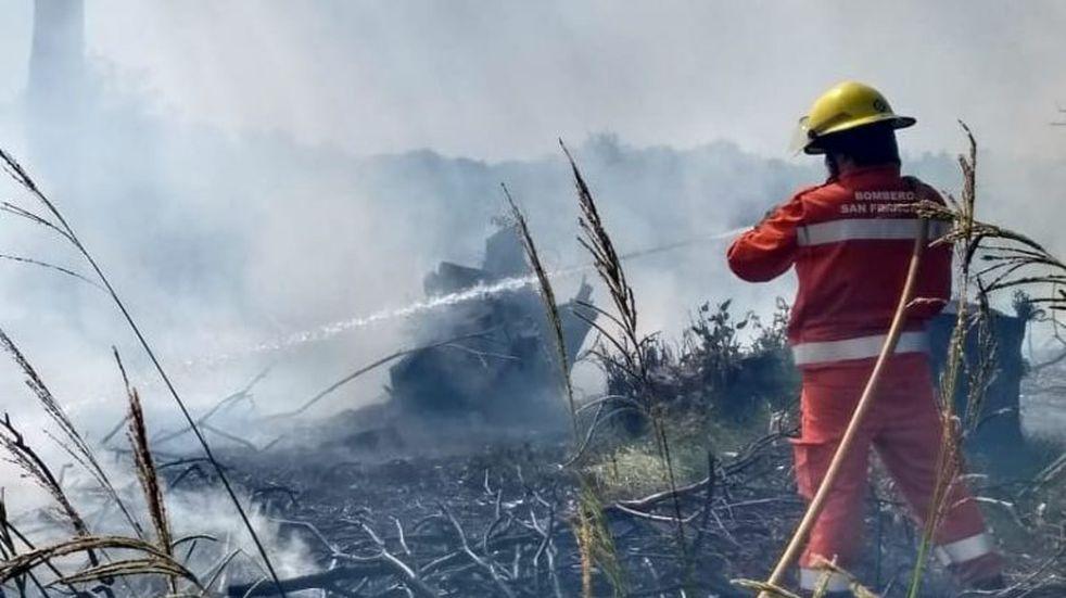 Los Bomberos de San Francisco intervinieron en un incendio en el Hipódromo