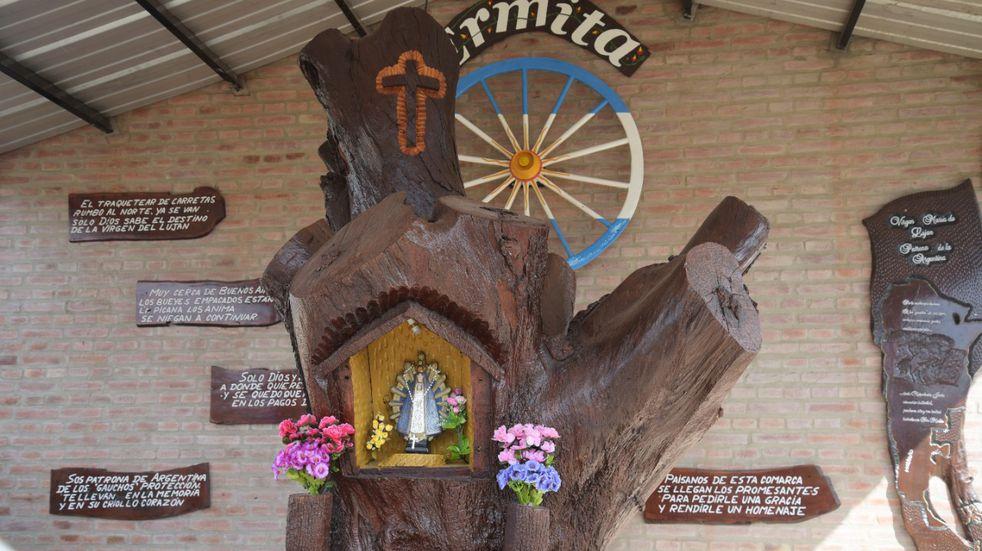 El Centro Tradicionalista Atahualpa Yupanqui trasladó la imagen de la Virgen de Luján a su predio