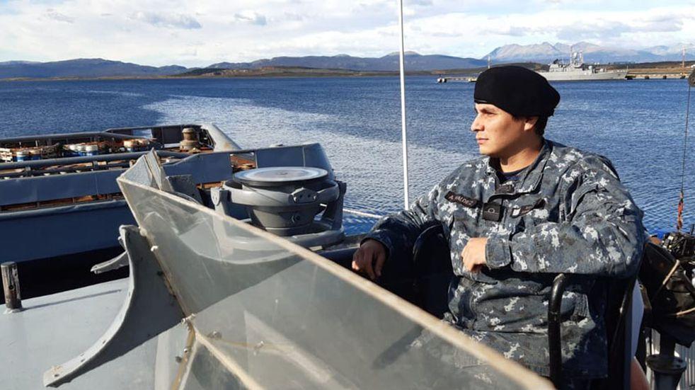 Un mendocino orgulloso de servir a la patria en la Armada