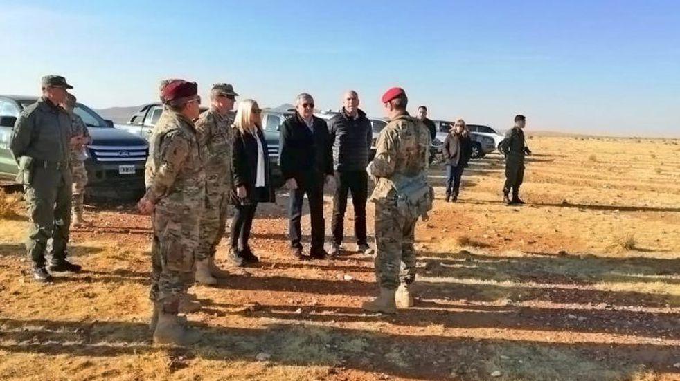 Morales y Meyer presenciaron los ejercicios militares en Yavi