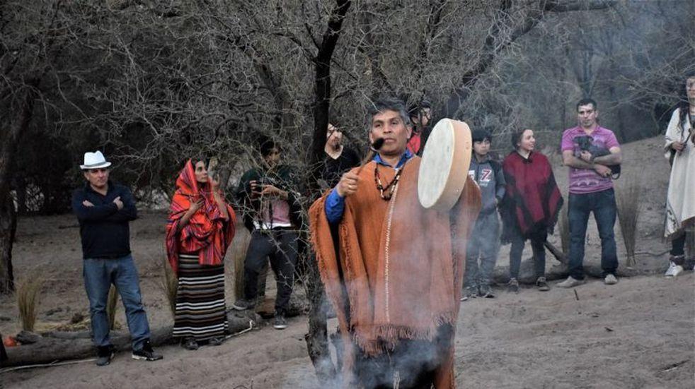 Los huarpes despidieron el año con una ceremonia originaria