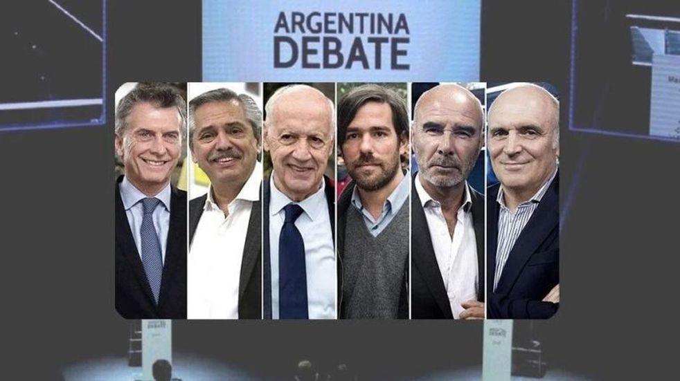 Debate presidencial: seis candidatos y toda la tensión electoral en TV