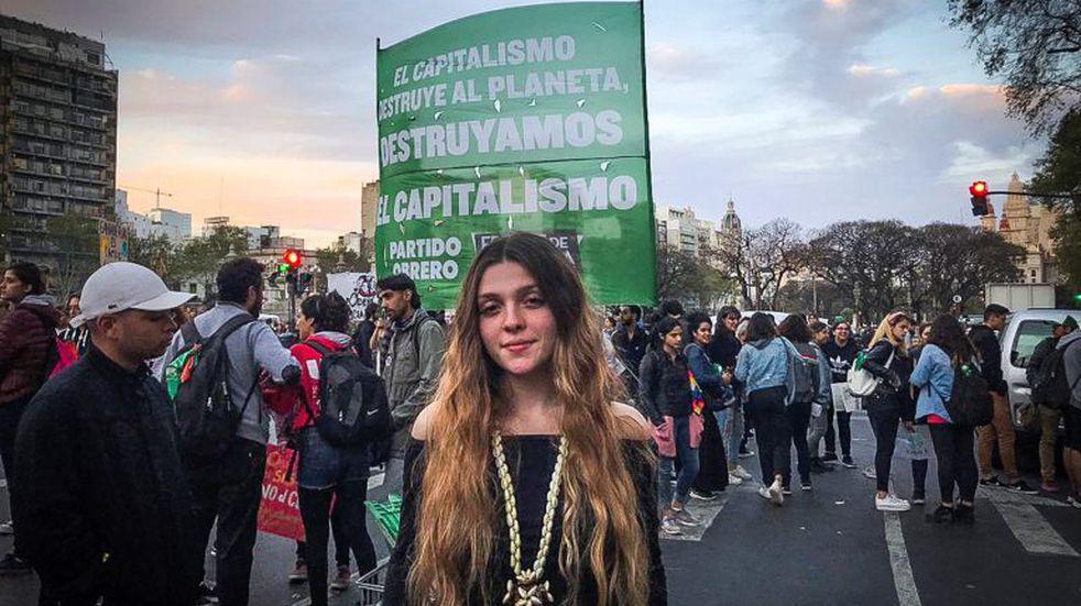 """Chiara Sacchi, la activista argentina que protestó con Greta Thunberg: """"No hicieron nada y ahora nos tienen que escuchar"""""""