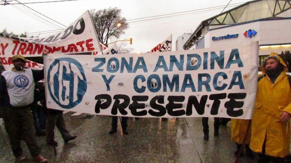 La CGT Zona Andina denunció recortes salariales en Bariloche