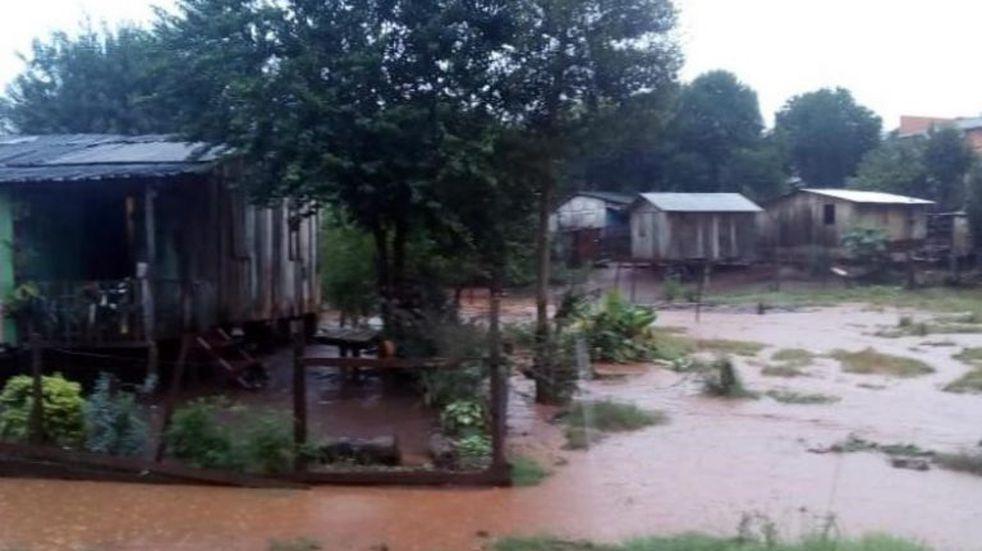 Andresito: las lluvias provocaron desborde de varios arroyos