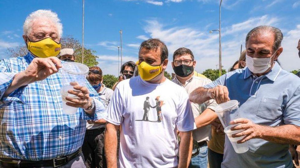 Ginés González García en Posadas acompaña campaña contra el dengue